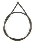 Шнурок кожаный d = 4,0 мм черный