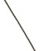 Шнурок кожаный плетённый d = 2,5 мм черный