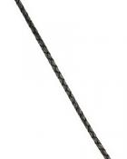 Шнурок кожаный плетённый d = 3,5 мм черный